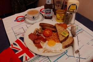 Makan Cafe's  English Breakfast -All Halal!