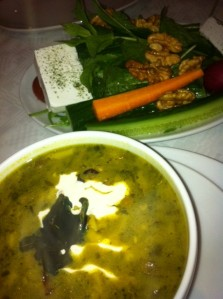 The Ashe Reshteh Soup Was Very Nice