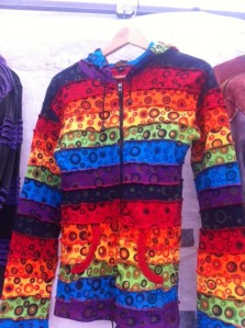 MULTI COLOURED HOODIE,BRIGHT AND BOLD,