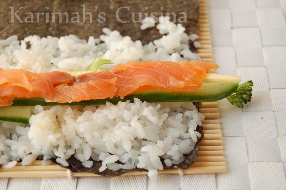 Sushi Salmon Greens