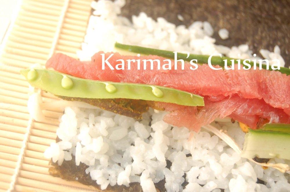Sushi Salmon Shiitake
