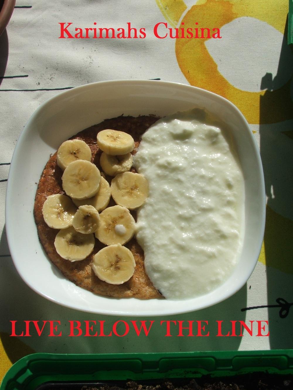 One Pancake, Half A Banana &Yoghurt