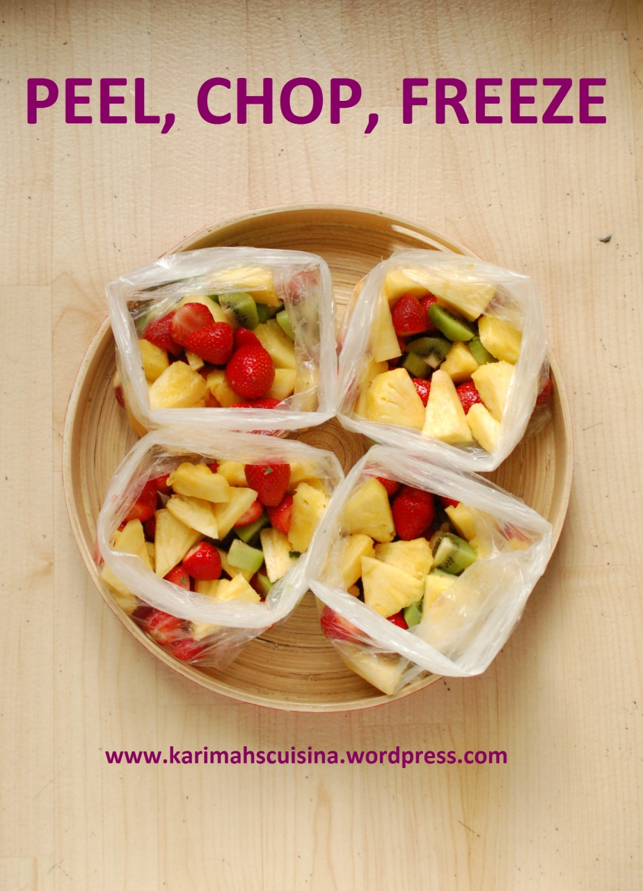 WASH PEEL CHOP HIGH VITAMIN C FRUITS