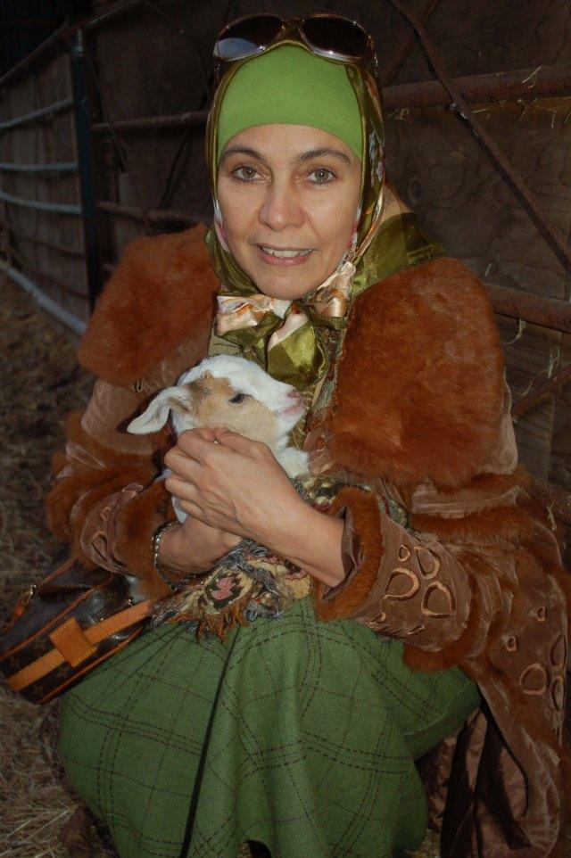 Karimah & Baby Goat Winter 14