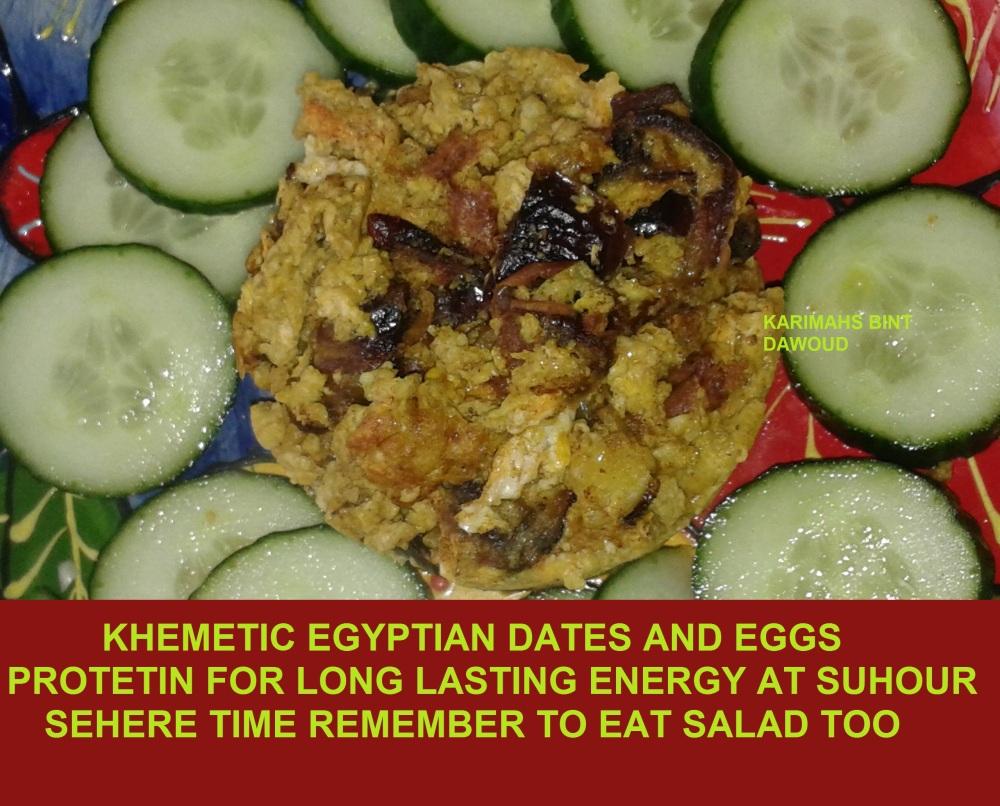 DATES EGGS SALAD
