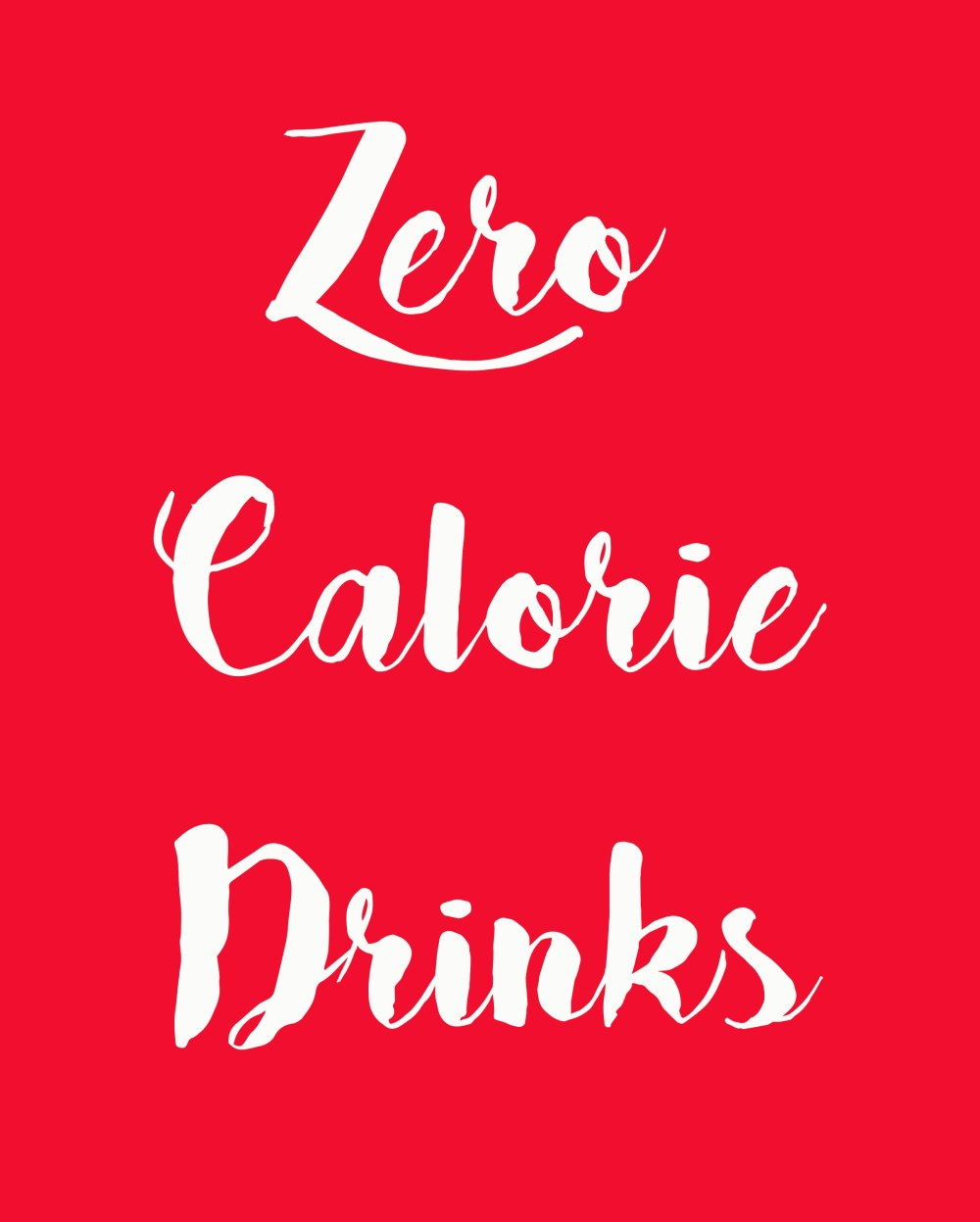 0 calorie drinks
