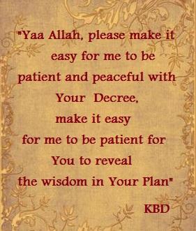 duaa Allahs decree