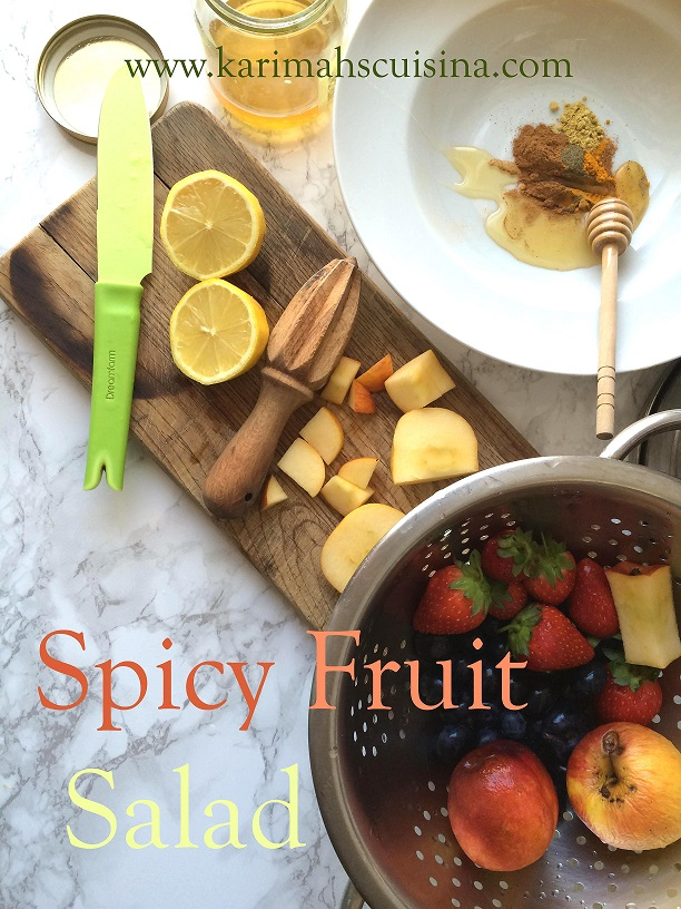 spicey fruit salad ingredient text small