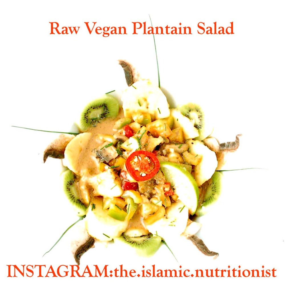 RAW PLANTAIN SALAD text