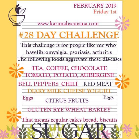 28 day challenge fibromyalgia psoriasis arthritis
