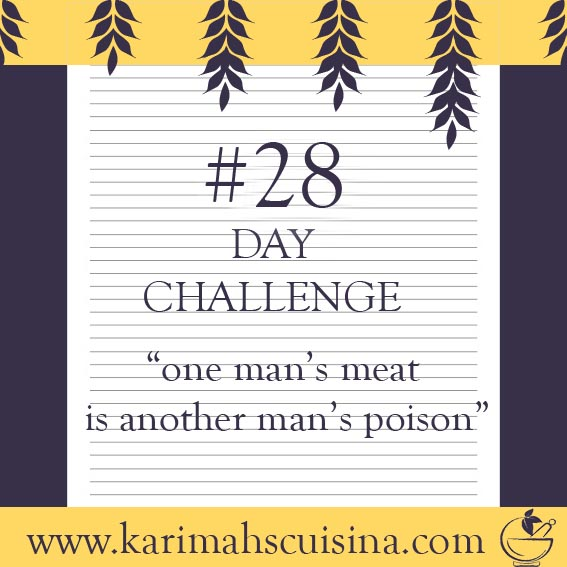 28 day challenge one mans meat