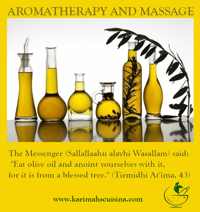 hadith olive oil massage
