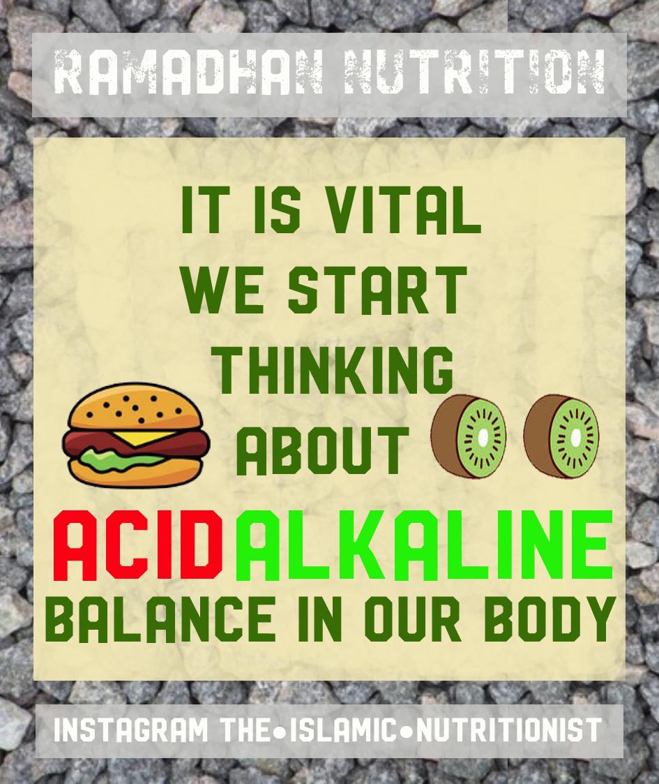 ramadhan nutrition ACID ALKALINE