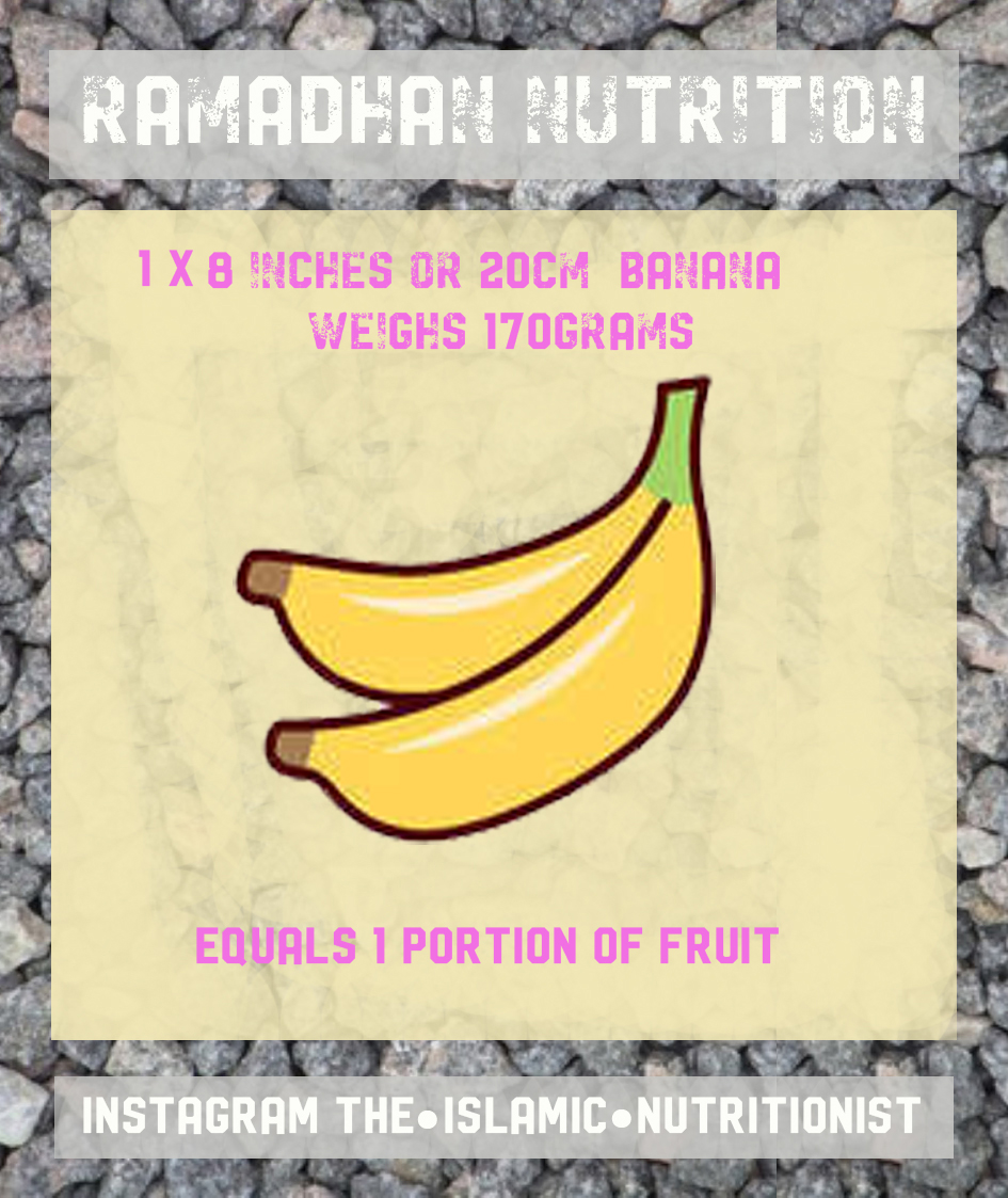 ramadhan nutrition BANANA 1 PORTION