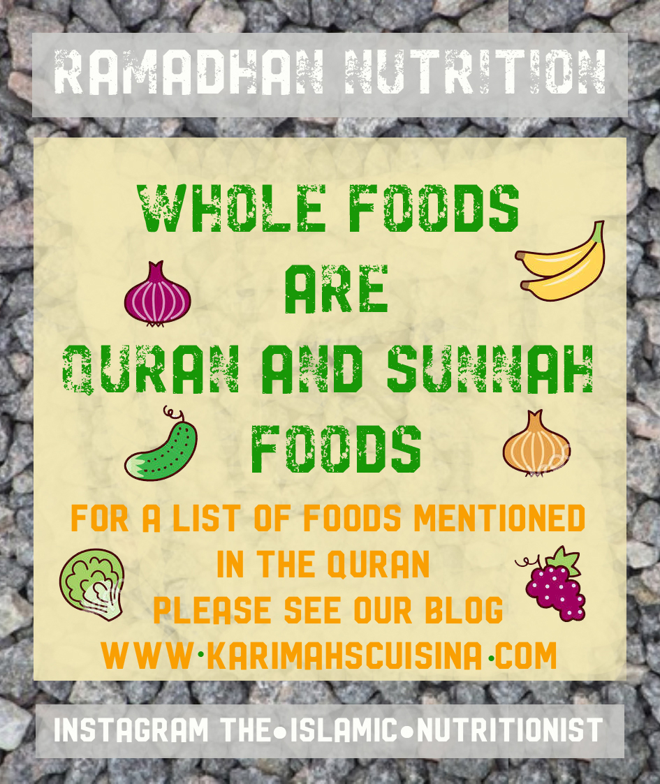 ramadhan nutrition LIST QURAN FOODS