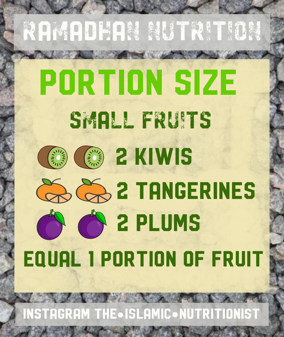 ramadhan nutrition PORTION small fruit